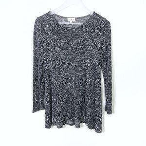 Anthro | Puella Grey Oversize Swing Top